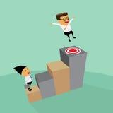 L'uomo d'affari può volare a successo. Immagine Stock Libera da Diritti