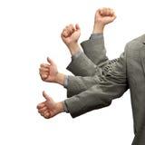L'uomo d'affari sfoglia su successo Fotografia Stock Libera da Diritti