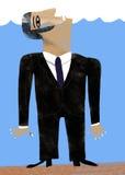 L'uomo d'affari si è vestito in vestito annega Immagini Stock