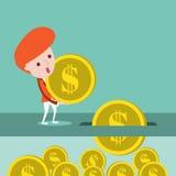 L'uomo d'affari soldi di risparmio royalty illustrazione gratis