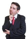 L'uomo d'affari sorridente ha un'idea Immagine Stock Libera da Diritti