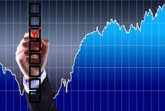 L'uomo d'affari, un gesto, un dito Immagine Stock Libera da Diritti