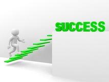 l'uomo 3d sale la scala di successo illustrazione vettoriale