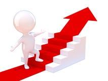 l'uomo 3d sale le scale Immagine Stock