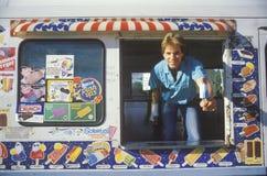 L'uomo del gelato Fotografie Stock Libere da Diritti