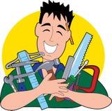L'uomo dello strumento royalty illustrazione gratis