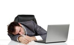 L'uomo di affari cade addormentato Fotografie Stock Libere da Diritti