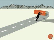 L'uomo di affari crea per possedere il modo a successo Immagini Stock