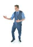 L'uomo di affari di karatè Fotografie Stock