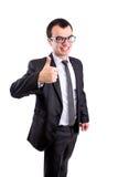 L'uomo di affari sfoglia in su Immagini Stock Libere da Diritti