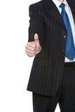 L'uomo di affari sfoglia in su Immagine Stock