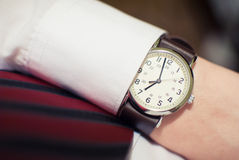 Orologio dell'uomo di affari Immagine Stock