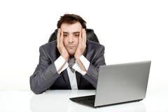 L'uomo di affari stanco e svuota Fotografia Stock