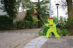 L'uomo di plastica ha chiamato Victor Veilig nei Paesi Bassi fotografia stock libera da diritti