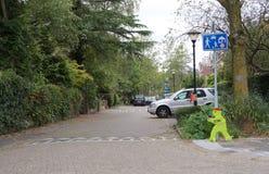 L'uomo di plastica ha chiamato Victor Veilig nei Paesi Bassi immagine stock