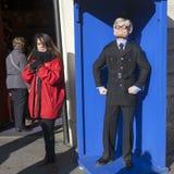 L'uomo divertente Ripleys dei mondi lo crede o non, città di Londra Inghilterra Fotografia Stock Libera da Diritti