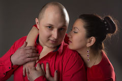 L'uomo e la donna molto amore Fotografia Stock