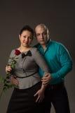 L'uomo e la donna molto amore Immagine Stock