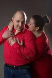 L'uomo e la donna molto amore Fotografia Stock Libera da Diritti