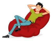 L'uomo felice si rilassa royalty illustrazione gratis