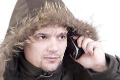 L'uomo l'esploratore polare Fotografia Stock Libera da Diritti