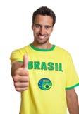 L'uomo latino ama il Brasile Fotografie Stock