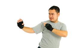 L'uomo protegge nel combattimento del corpo Immagine Stock Libera da Diritti