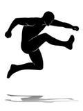 L'uomo salta, vector la siluetta Fotografia Stock Libera da Diritti