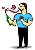 L'uomo sente l'odore del vino Immagine Stock Libera da Diritti