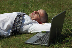l'uomo si è stancato Fotografia Stock