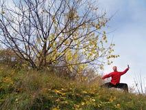 L'uomo si esercita nel 'chi' del tai Fotografie Stock Libere da Diritti