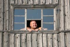 L'uomo sorridente Fotografia Stock
