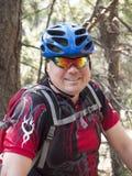 L'uomo sulla bici Fotografia Stock