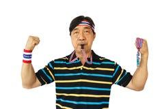 L'uomo tailandese resiste al governo tailandese Fotografia Stock