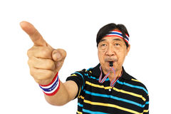 L'uomo tailandese resiste al governo tailandese Fotografie Stock