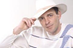 L'uomo in un cappello Fotografia Stock Libera da Diritti
