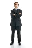 L'uomo in un vestito isolato su un bianco Immagine Stock Libera da Diritti