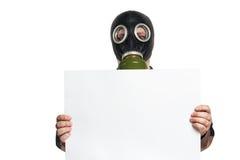 L'uomo in una maschera antigas Immagini Stock Libere da Diritti