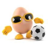 l'uovo 3d gioca a calcio Fotografia Stock