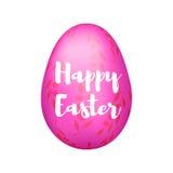 L'uovo rosa con la decorazione dei rami, Fotografia Stock Libera da Diritti
