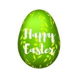 L'uovo verde Fotografie Stock Libere da Diritti