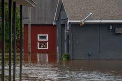 L'uragano Firenze porta le acque di inondazione fotografia stock libera da diritti