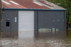L'uragano Firenze porta le acque di inondazione fotografie stock