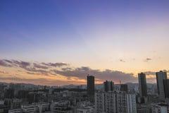 L'urbanizzazione della Cina Fotografia Stock Libera da Diritti