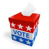 L'urna per la raccolta vota da un'elezione politica americana Fotografie Stock