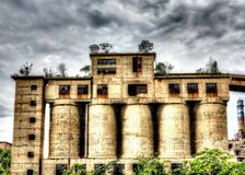 L'usine abandonnée Image libre de droits