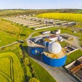 L'usine de biogaz Photos stock