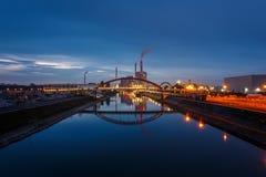L'usine de pouvoir étendu, usine de centrale à charbon à Mannheim, Allemagne images stock