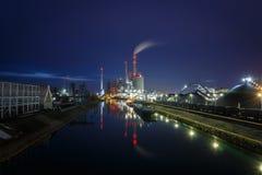L'usine de pouvoir étendu, usine de centrale à charbon à Mannheim, Allemagne photographie stock