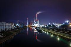 L'usine de pouvoir étendu, usine de centrale à charbon à Mannheim, Allemagne photo libre de droits